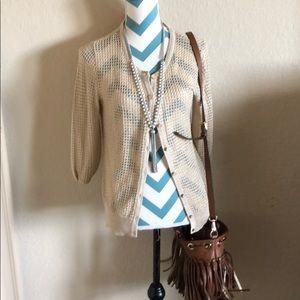 New York and Company Sheer Vest Size medium